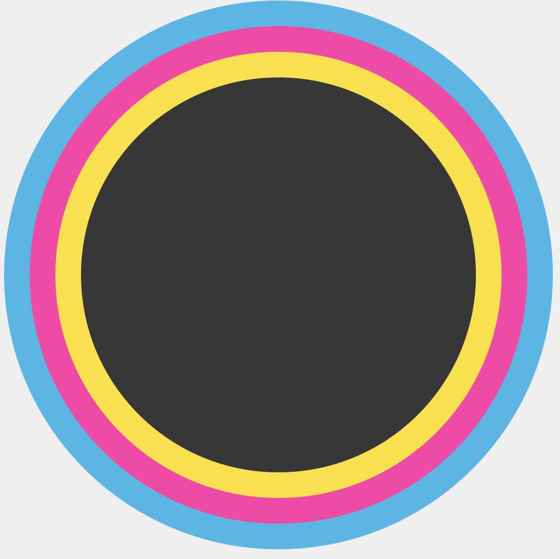 Cyan, Magenta, Yellow, and Black circles